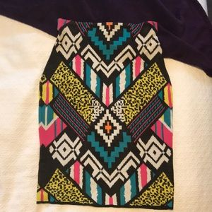 Eclectic Pencil Skirt
